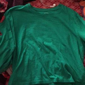 Hollister green shirt